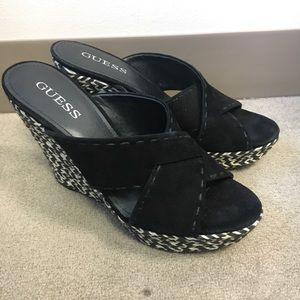 New suede Guess wedges